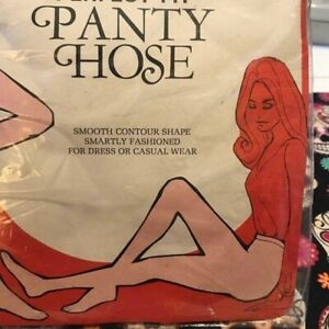 60s Vintage Plus Size Nylon Stockings Citation Perfect Fit Pantyhose 3X 4X 5X