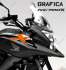 ADESIVI DECAL STICKERS HONDA NC700X NC 700 X CARENA GRAFICA BIANCO ARANCIO