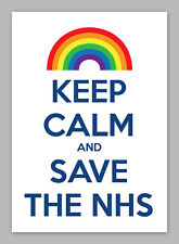 Keep Calm Stay Inside Sign Save the NHS, Covid, Poster, Wall Art, All Sizes