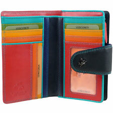 NEW Quality LADIES Soft LEATHER PURSE WALLET by Visconti Designer SPECTRUM Boxed