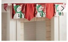 Pier 1 Imports Christmas Snowman Red Mantel Scarf Nwt