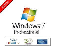 Windows 7 Pro Professional Licence OEM - Key Activation Code 32/64bit