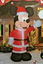 RARE NEW GIANT 11 FT TALL DISNEY CHRISTMAS MICKEY MOUSE WAVING INFLATABLE GEMMY