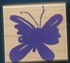 BUTTERFLY insect Entomology NEW Hero Arts E2640 Poetic Print wood Rubber Stamp