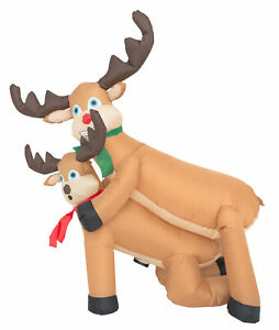 Inflatable Humping Reindeer Christmas Decoration