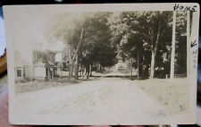 c1920 Street scene in Brookfield New York real photo postcard view