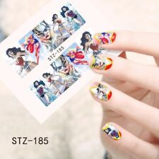 Super Hero Cartoon Nail Art Water Transfer Decal Heart Bowtie Stickers STZ-185
