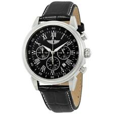 - I by Invicta Men's 44mm Stainless Steel Leather Chronograph Quartz Watch
