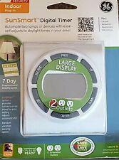 Ge Sun Smart ~15079 Programmable Digital Timer 7 Day Indoor Plug-In 2-Outlet~Nip