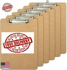 Officemate Letter Size Wood Clipboards, Low Profile Clip, 6 Pack Clipboard,