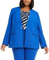 Calvin Klein Women's 16w Plus Size Collarless Blazer Suit - Jacket, $149, NwoT