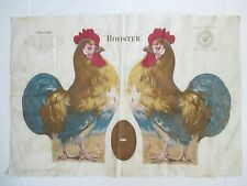 New ListingAntique 1892 Arnold Print Works Rooster Chicken Cloth Rag Doll Sheet
