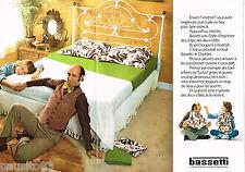 PUBLICITE ADVERTISING 055  1973  BASSETTI  linge de maison draps  ( 2pag)