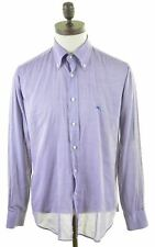 ETRO Mens Shirt Size 41 Medium Purple Cotton Slim Fit  AR06