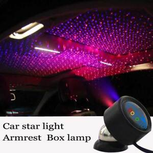 Car Ceiling Star Light LED Atmosphere Projector Armrest Box Galaxy Lamp Red blue