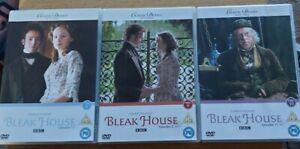 Charles Dickens Bleak House 3 Dvd's Certificate PG