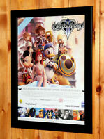 Kingdom Hearts II 2 Very Rare Small Poster / Old Ad Page Framed PS2 Square Enix