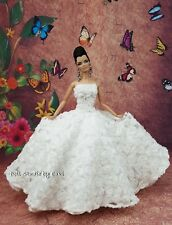 White Rose Flower Evening Dress Outfit Gown Silkstone Barbie Fashion Royalty FR