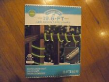 New ! Holiday Time LED Tape Christmas Lights, 19.6', Green