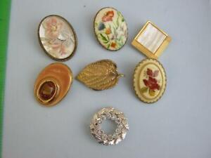 vintage dress / scalf clip lot