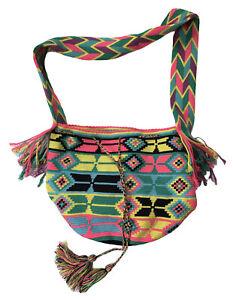 Wayuu MochilaColombian Hobo BagHandbag Colorful Bohemian Hippie