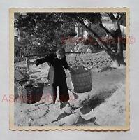 1940s WOMEN FARMER VILLAGE YOKE YUEN LONG Vintage Hong Kong Photo 30239 香港旧照片