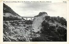 Unposted 1915-30 PC Mt Andreson & Bridge Rim o' World Drive San Bernardino Co CA