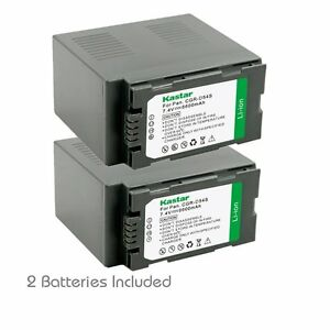 2x Kastar Battery for Panasonic CGA-D54 AG-HPX170 AG-HPX250 AG-HPX255 AG-HVX200