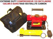 ROBUSTE & PUISSANT! COMPRESSEUR 12V 120L/M! BI-CYLINDRE! RARE! CAMPING CAR