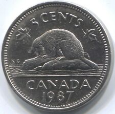 1987 CANADA FIVE CENTS Coin - Key Date