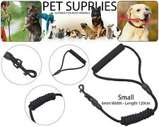 Puppy Dog Pet Harness Collar Lead Leash Strong Nylon Rope Soft Grip Black 6mm