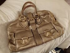 Marc Jacobs Leather Tote Satchel Bag Gold