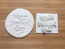 Embossing for Cupcake and Cake - STAMPS Sugar Paste Happy Mother's Day