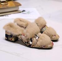 Summer Flat Flip-flops Fashion Womens Plastic Non-slip Slippers US9.5 Ths01