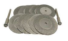 12pc 35mm Dremel Rotary Abrasive Emery Diamond Grinding Cutting Wheel Discs