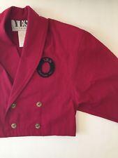 Vintage 80s YES CLOTHING Batwing Blazer Jacket Fuchsia Short S AMAZING