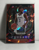 Tyrese Maxey 2020 Panini Prizm Draft Picks Crusade Red Cracked Ice #94 RC 76ers
