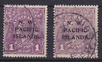PNG894a) New Guinea 1921-22 NWPI overprints colour changes 1d Violet SG 120