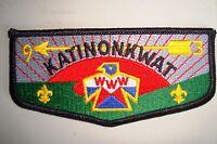 MERGED OA KATINONKWAT LODGE 93 109 350 65 CENT OHIO PATCH CLOTH SERVICE FLAP