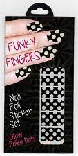 Fizz Creations Funky Fingers Nail Foil Sticker Set - Glow Polka Dots