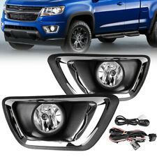 for 2015-2018 Chevy Colorado Clear Bumper Fog Lights w/Bulbs Complete Kit LH&RH
