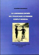 La laborieuse entree de l'Italie dans le premier conflit mondial. HT2