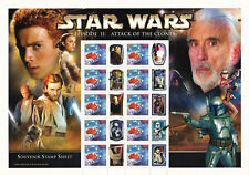 2002 - Star Wars - Attack Of The Clones Australia Post Sheet of 10 Stamps - MNH