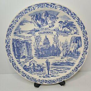 Vintage Vernon Kilns California Souvenir Plate Landmarks Decor Collectable