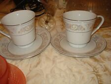 BN SET OF 2 FINE PORCELAIN CUP AND SAUCER