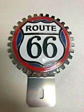 New Vintage Route 66 License Plate Topper- Chromed Brass -Great Gift Item!
