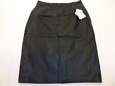 VINTAGE AVON FASHIONS BLACK LEATHER SKIRT WOMEN'S 5/6 NWT