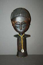 VTG HAND CARVED ASASE YAA ASHANTI FERTILITY DOLL GODDESS STATUE FIGURINE GHANA