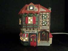 Sweet Shop Dickens 1995 Collection Towne Christmas Village Lighted Porcelain