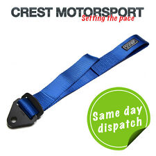 TRS Adjustable Tow Eye Strap/Loop BLUE (MSA Compliant) Race/Rally/Competition